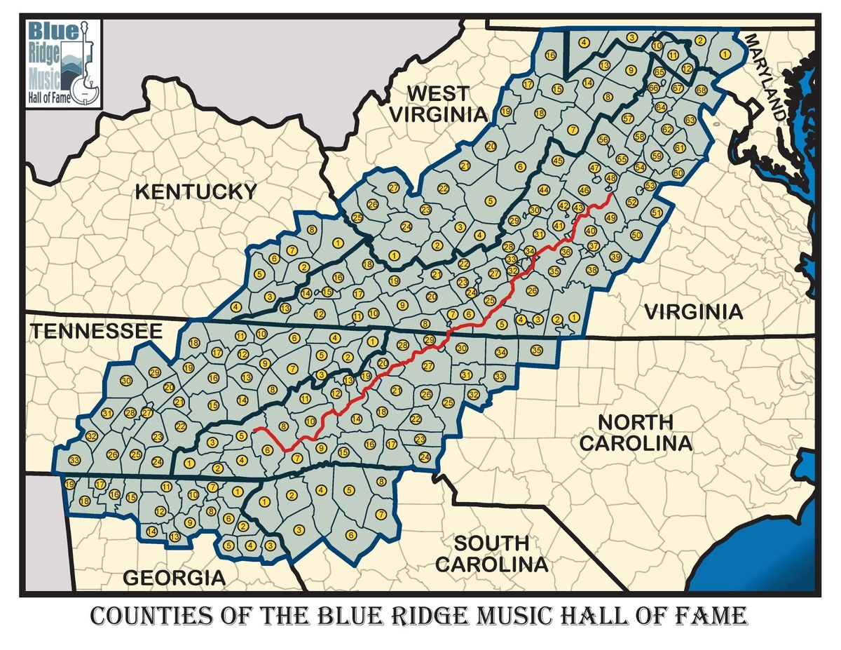 Counties of the Blue Ridge Music Hall Of Fame 1200