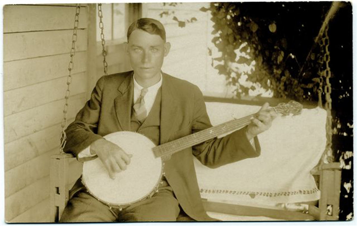 Charles Cleveland Poole acquired a love of banjo music before he reached his teens learning to play on a gourd banjo that he made for himself.  In the summer of 1925 Poole boldly decided to try to get an audition with a major record company in New York City.  Frank Walker, the recording director for Columbia Records, decided to give Poole's band, dubbed the North Carolina Ramblers, a chance to record.  Poole's snappy singing style and his sharp 3-finger banjo picking along with the tight fiddle work of Rorer and Woodlieff's  smooth guitar runs made the band's sound very distinctive and catchy.  In the spring on 1931 Poole received a contract from a Hollywood studio to bring his band to California to play back-up in a movie.  Poole suffered a fatal heart attack at the age of 39.  In his short career had won many new fans to rural traditional music.  His colorful personality and antics made him a legend in his own time and that legend continues to this day.