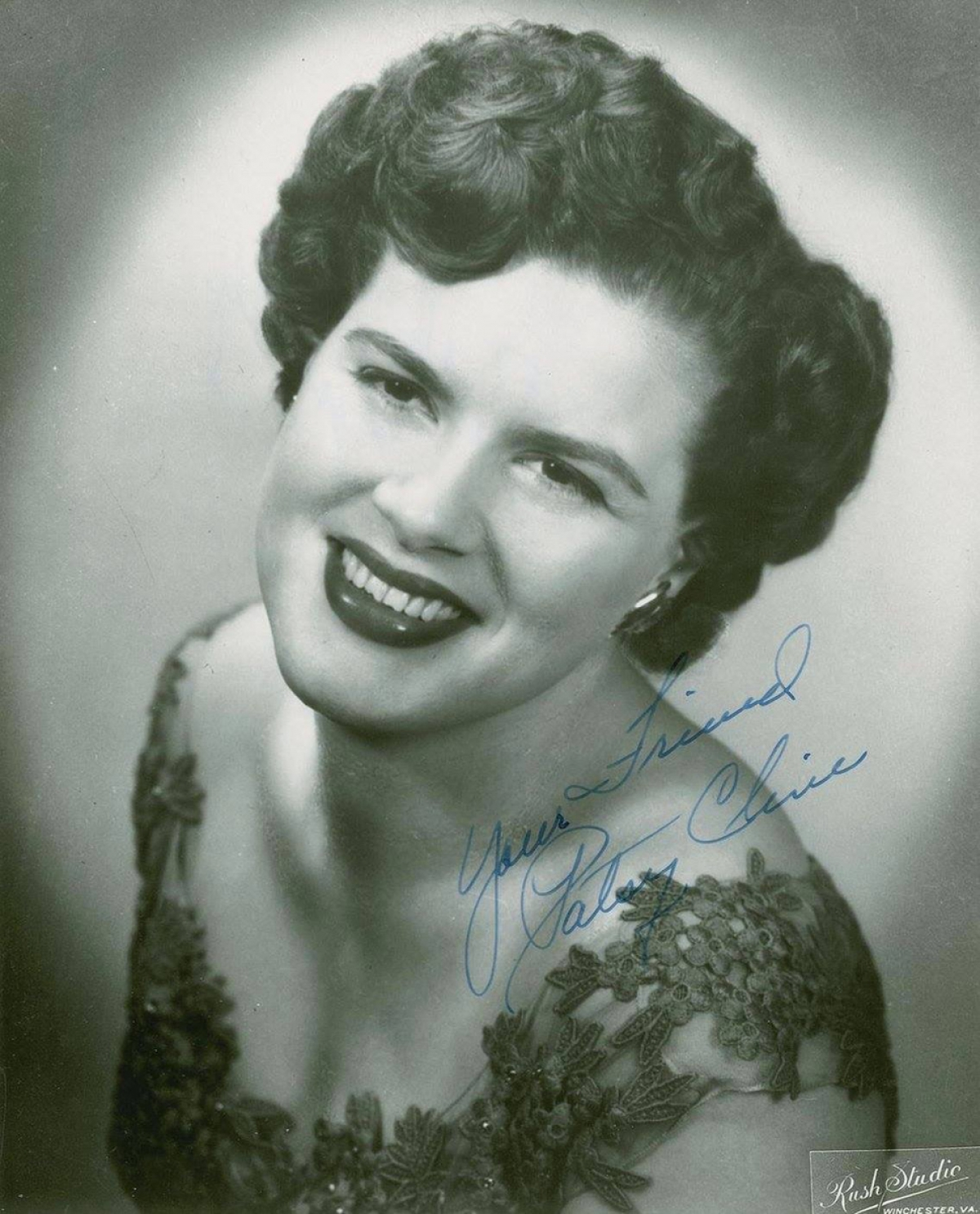 Patsy Cline was born Virginia Patterson Hensley on September 8, 1932, in Winchester, Virginia and at a young age began traveling around locally singing to help support her family. A member of a band she was in suggested that she change her name so she decided to use her middle name, becoming known as Patsy Cline.  Patsy's young career hit a turning point in 1957 when she landed a spot on Arthur Godfrey's Talent Scouts show.  Patsy moved to Nashville to properly pursue her career in 1959.  In the early 1960s, Patsy enjoyed great success on the country and pop charts. She made a way for herself in a predominately male world, and in doing so, paved the way for many of the female artists that followed her. She is considered one of country music's greatest vocalists and after her death in 1963 has received too numerous awards to be listed.  Her Greatest Hits album sold over 10 million copies worldwide and spent more than 700 weeks on the Billboard charts.